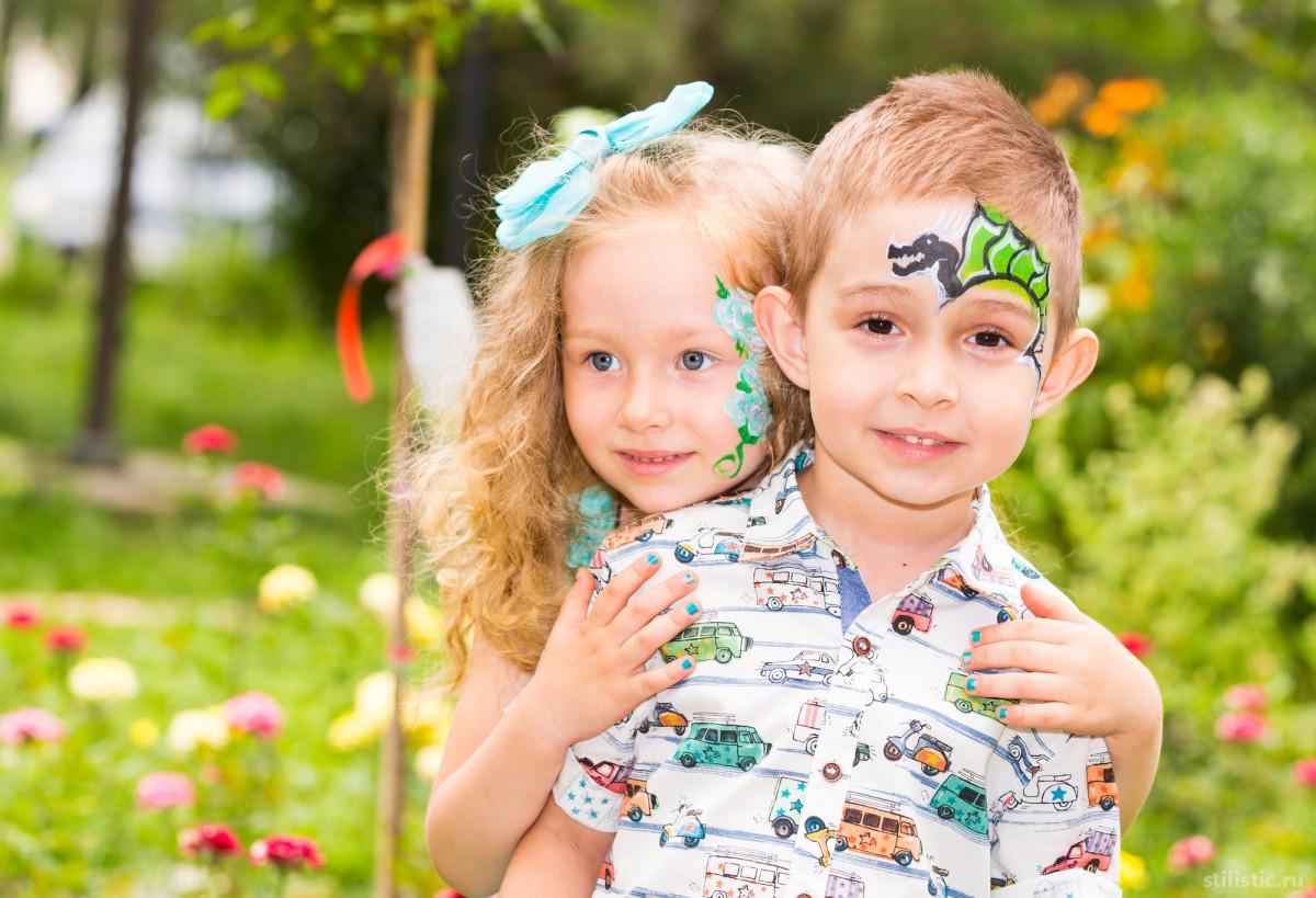 Аквагрим: разукрашенные дети